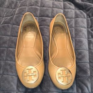 Tory Burch tumbled leather Claire ballets flats
